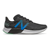 New Balance Men's FuelCell 890v8 - Black with Neo Classic Blue - M890BM8 - Profile