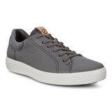 Ecco Men's Soft 7 Street Sneakers - Dark Shadow with Magnet - 470054-51949 - Angle