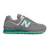 New Balance Women's 574 - Marblehead with Tidepool - WL574EUB - Profile