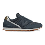 New Balance Women's 996 - Petrol with Gold - WL996NB - Profile