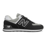 New Balance Men's 574 - Black with White - ML574SSN - Profile