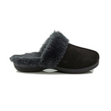 Powerstep Women's Luxe Slipper - Black - FUSION/BLACK - Profile