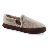Acorn Men's Fave Gore Italian Wool Moccasins - Grey Ragg Wool - A11172/ACK - Profile
