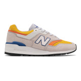 New Balance Men's 997 Made In US - Grey with Orange - M997PT - Profile