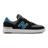 New Balance Men's All Coast 574 - Black with Blue - AM574BBN - Profile