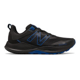 New Balance Men's Nitrel v4 - Black with Cobalt Blue - MTNTRBC4 - Profile