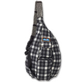 Kavu Plaid Rope Bag - Oatmeal - Front