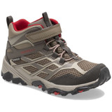 Merrell Kid's Moab FST Mid A/C Waterproof Boot - Boulder - MK264169 - Angle