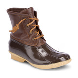 Sperry Big Kid's Saltwater Duck Boot - Brown - YG55362 - Angle