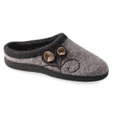 Acorn Women's Acorn Dara Slippers - Light Grey Button - 10151/GRY - Profile