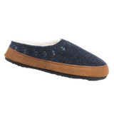 Acorn Women's Geo Embroidered Hoodback Slippers - Navy - 19017/BLUE - Angle