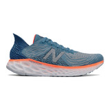 New Balance Men's Fresh Foam 1080v10 - NB Light Blue with Dynamite - M1080H10 - Profile