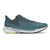 New Balance Men's FuelCell Prism - Jet Stream with Lime Glo - MFCPZGW - Profile