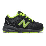 New Balance Infant 990v5 - Black and Atomic Yellow - Profile