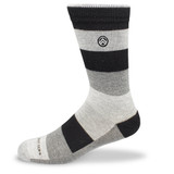 Sky Outfitters Bamboo Crew Socks - Gray Striped - Front