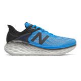 New Balance Men's Fresh Foam More v2 - Vision Blue with Black - Profile