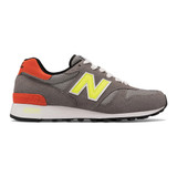 New Balance Men's Made in US 1300 - Grey with Yellow - M1300PD - Profile