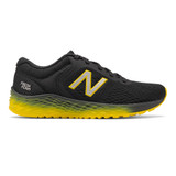 New Balance Kid's Fresh Foam Arishi Trail v2 - Black with Atomic Yellow - Profile
