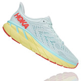 HOKA ONE ONE Women's Clifton 7 (Wide Width) - Morning Mist with Hot Coral - 1110535-MMHC - Profile