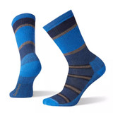 Smartwool Men's Striped Medium Hiking Crew Socks - Alpine Blue