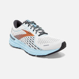 Brooks Women's Adrenaline GTS 21 - White/Alloy/Light Blue - 120329-193 - Angle