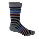 Smartwool Men's Spruce Street Crew Socks - Lunar Gray - SW003902E47 - Profile
