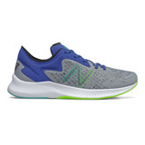 New Balance Men's Pesu Running Shoe - Steel / Team Royal / Energy Line - mpesulh1 - Profile 1