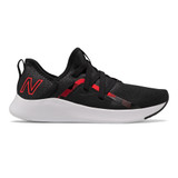 New Balance Women's Beaya Slip On - Black / Energy Red - Profile