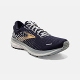 Brooks Men's Ghost 13 - Peacoat / Grey / Gold - Angle