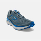 Brooks Men's Glycerin GTS 19 - Quarry / Grey / Dark Blue - Angle