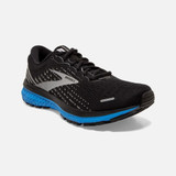 Brooks Men's Ghost 13 - Black / Grey / Blue - Angle