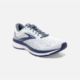 Brooks Men's Ghost 13 - White / Grey / Deep Cobalt - 110348-161 - Main