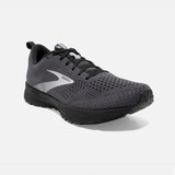 Brooks Men's Revel 4 - Ebony / Black / Grey - 110347-040 - Angle