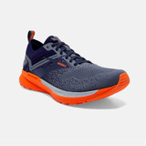 Brooks Men's Ricochet 3 - Navy / Grey / Scarlet - 110361-430 - Angle