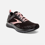 Brooks Women's Levitate 4 - Black/Grey/Coral Cloud - 120335-041 - Angle
