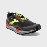 Brooks Men's Cascadia 15 - Black / Raven / Cherry Tomato - 110340-076 - Angle