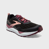 Brooks Women's Cascadia 15 - Black / Ebony / Coral Cloud 120331-087 - Angle