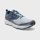 Brooks Men's Divide 2 - Quarry / Grey / Dark Blue - Angle