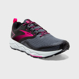 Brooks Women's Divide 2 - Black / Ebony / Pink - Angle