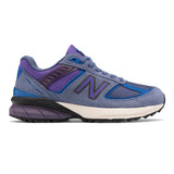New Balance Women's Made In US 990v5 Trail - Magnetic Blue / Cobalt - W990TMN5 - Profile