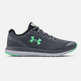 Under Armour Grade School Charged Impulse Running - Pitch Grey / Mod Grey - 3022940-105 - Profile