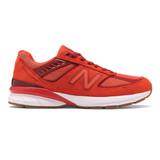 New Balance Men's Made In US 990v5 Running - Molten Lava / Fireball - M990MS5 - Profile