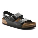 Birkenstock Milano - Black Amalfi Leather (Regular Width) - 234531 - Angle