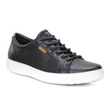 ECCO Men's Soft 7 Sneaker - Black - 430004-01001 - Angle