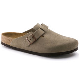 Birkenstock Boston Soft Footbed - Taupe Suede - 560771 - Profile