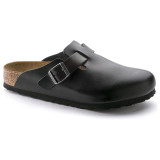 Birkenstock Boston Soft Footbed - Amalfi Black (Regular Width) - 59831 - Main