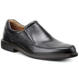 ECCO Men's Holton Apron Toe Slip On - Black - 621124-01001 - Angle