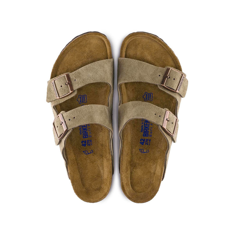 Birkenstock Arizona Soft Footbed Taupe Suede (Regular Width)