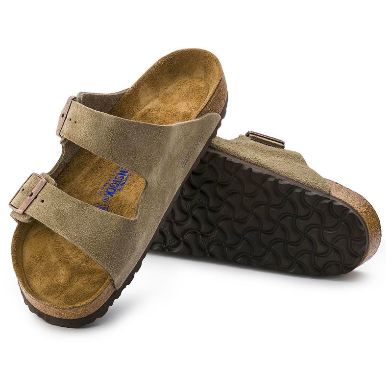 arizona soft footbed suede leather taupe