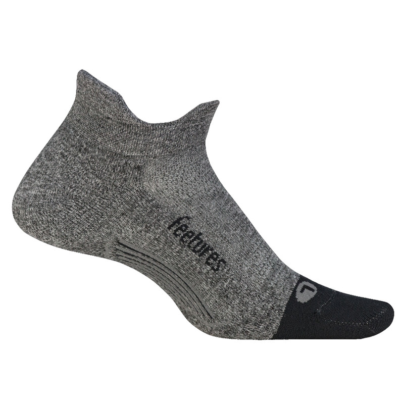 Feetures Elite Light Cushion No Show Tab Socks - Grey (E5004382)